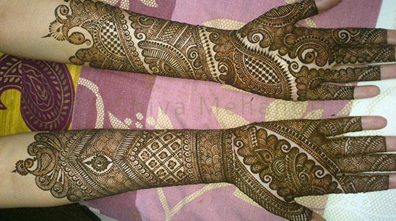Hand Mehndi Latest Designs : Gallery : shiva mehandi art
