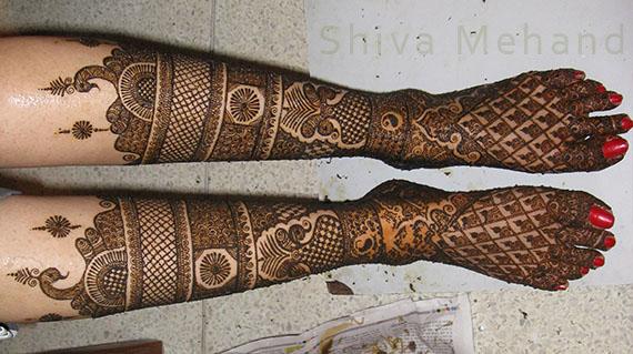 Mehndi For Lags : Mehndi design in leg. good karwa chauth for legs